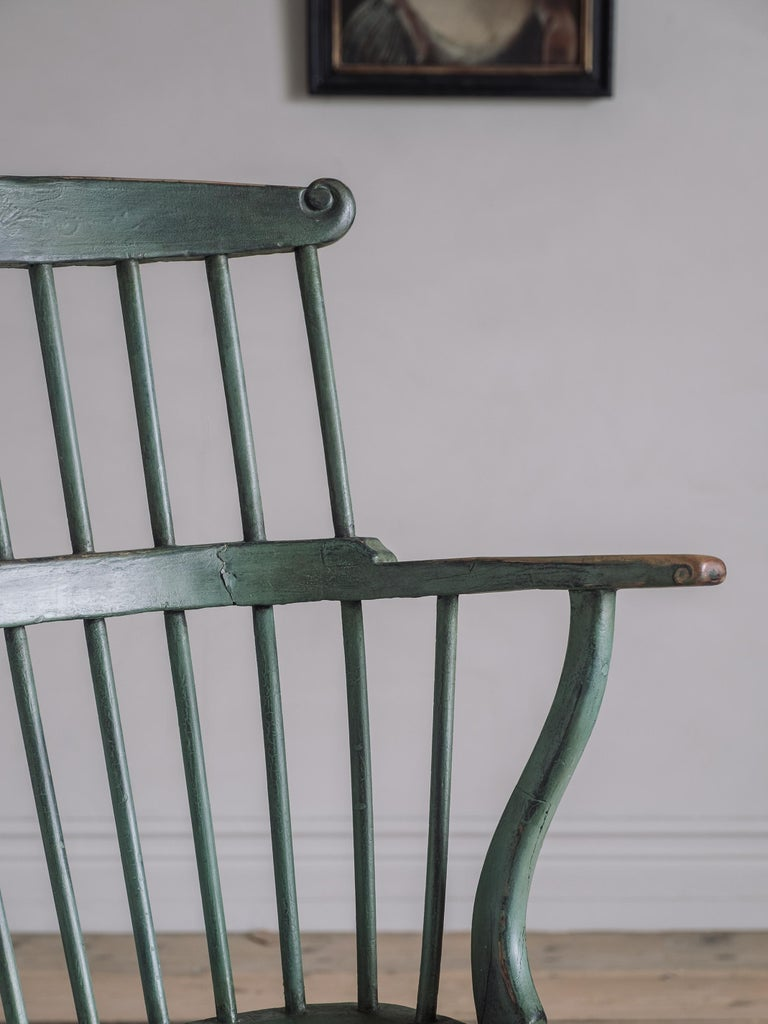 18th Century Gustavian Comb Back Chair For Sale 2
