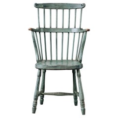 18th Century Gustavian Comb Back Chair