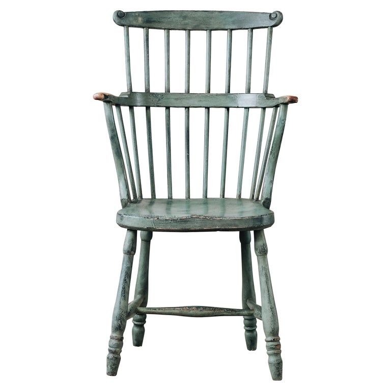18th Century Gustavian Comb Back Chair For Sale