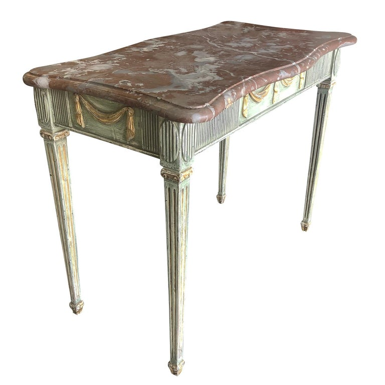 Hand-Carved 18th Century Gustavian Console Table Scandanavia For Sale