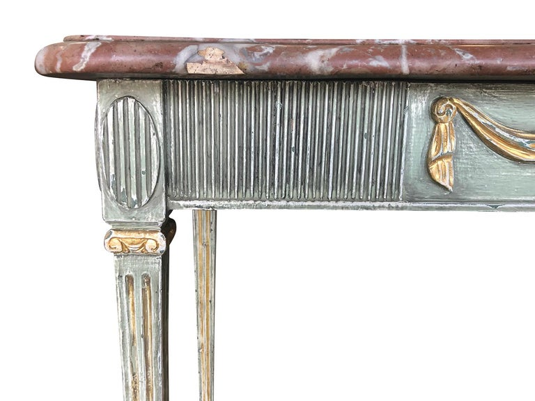 Giltwood 18th Century Gustavian Console Table Scandanavia For Sale