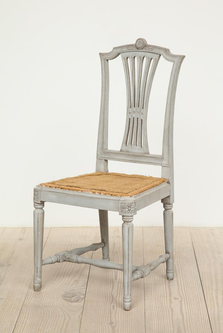 18th Century Gustavian Dining Chairs, Set of 10, Swedish, circa 1790 In Excellent Condition For Sale In New York, NY