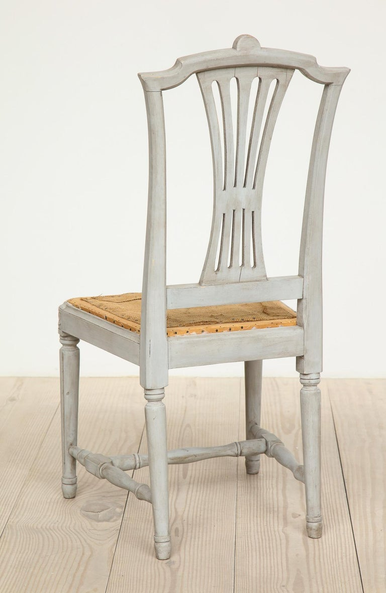 18th Century and Earlier 18th Century Gustavian Dining Chairs, Set of 10, Swedish, circa 1790 For Sale