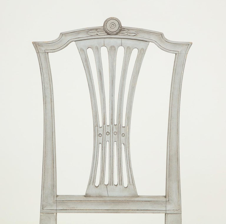 18th Century Gustavian Dining Chairs, Set of 10, Swedish, circa 1790 For Sale 2