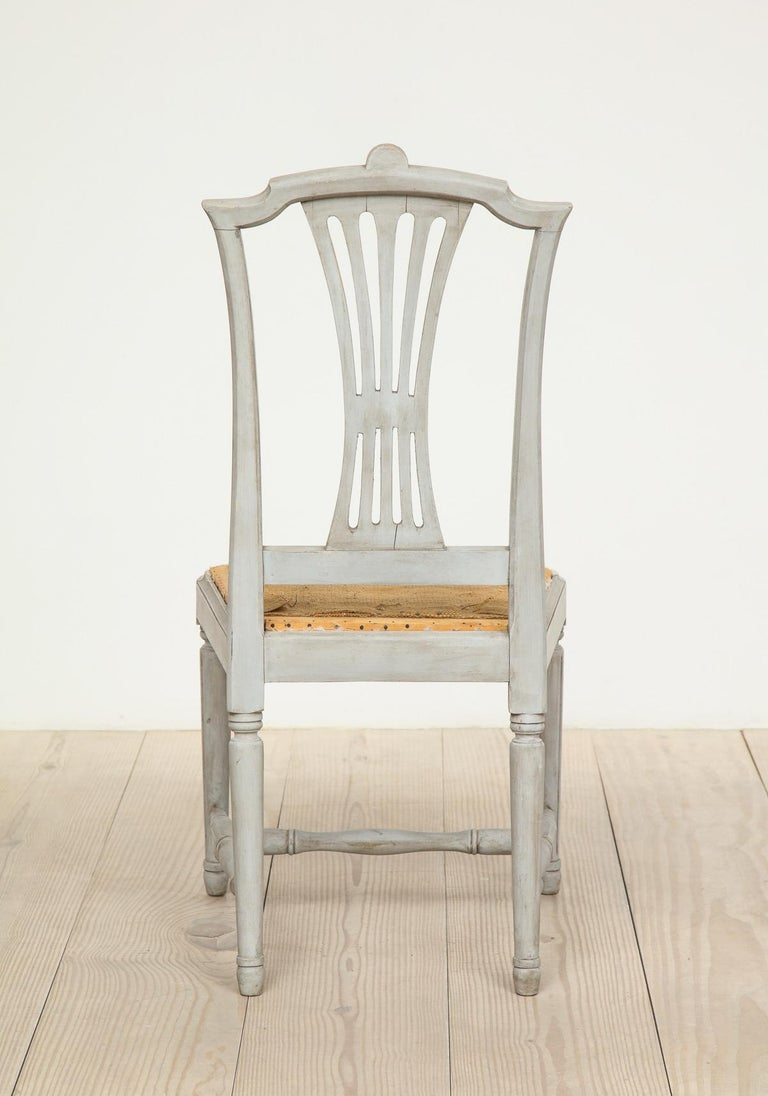 18th Century Gustavian Dining Chairs, Set of 10, Swedish, circa 1790 For Sale 3
