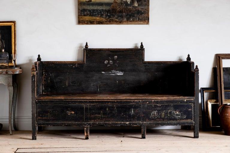 18th Century Gustavian Folk Art Sofa 9