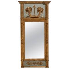 18th Century Gustavian Gilt Frame Mirror with Original Glass