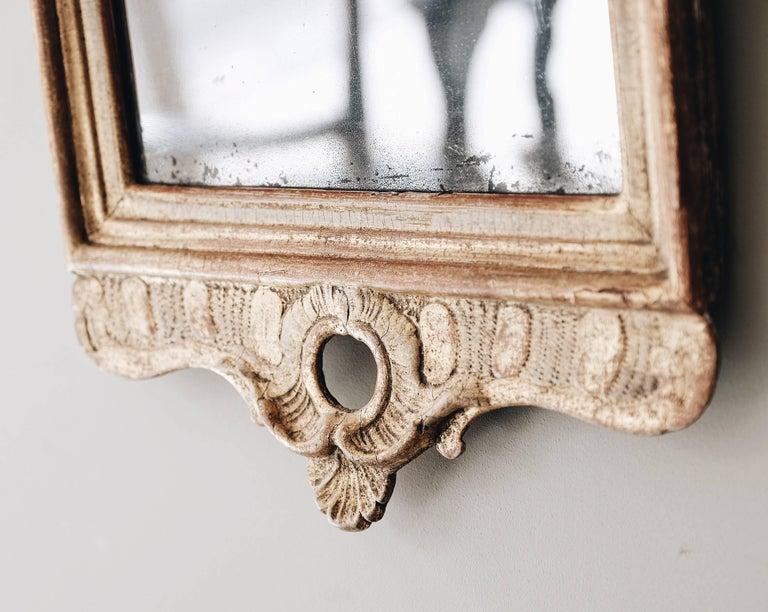 Swedish 18th Century Gustavian Giltwood Mirror For Sale