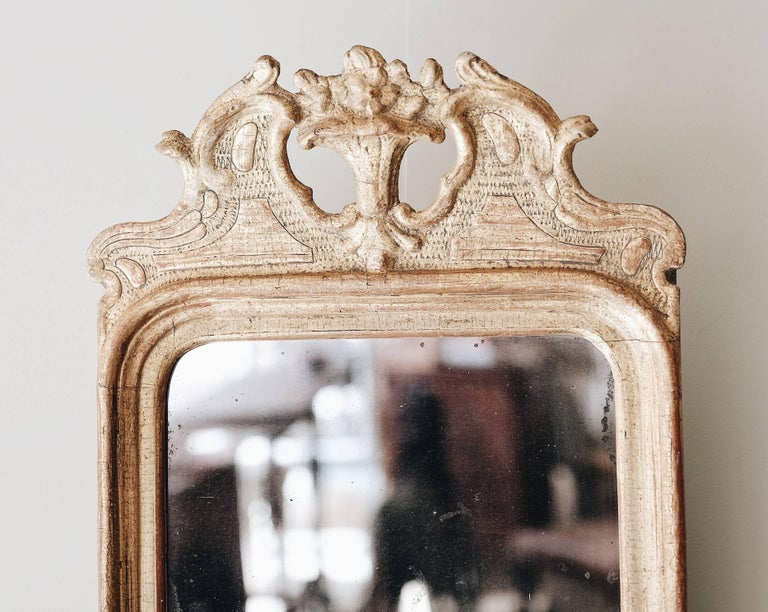18th Century Gustavian Giltwood Mirror In Good Condition For Sale In Helsingborg, SE