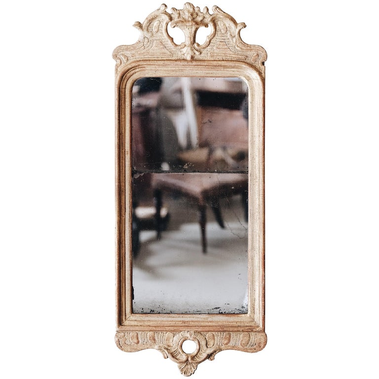 18th Century Gustavian Giltwood Mirror For Sale