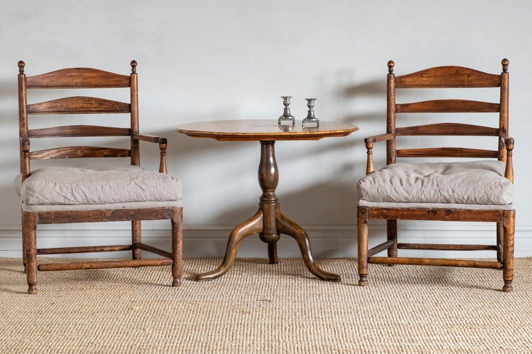Good pair of 18th century Swedish Gustavian Gripsholm armchairs in, circa 1790.