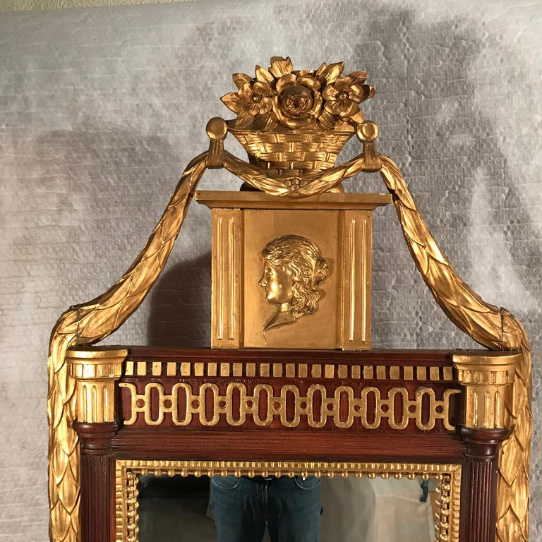 Late 18th Century 18th Century Gustavian Mirror, Sweden 1780 For Sale