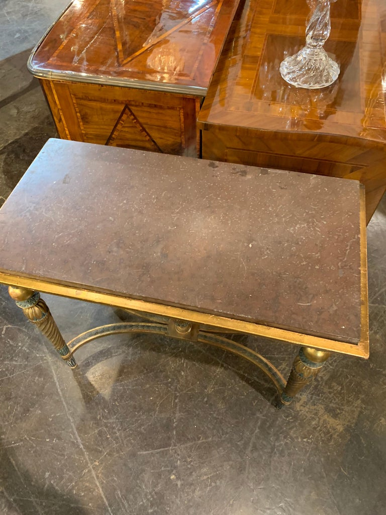Swedish 18th Century Gustavian Parcel-Gilt Console Table For Sale