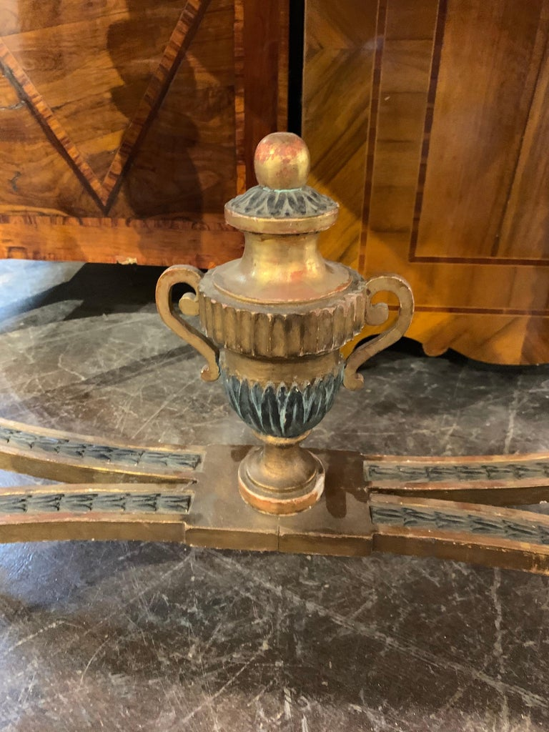18th Century Gustavian Parcel-Gilt Console Table In Good Condition For Sale In Dallas, TX