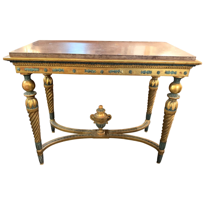 18th Century Gustavian Parcel-Gilt Console Table