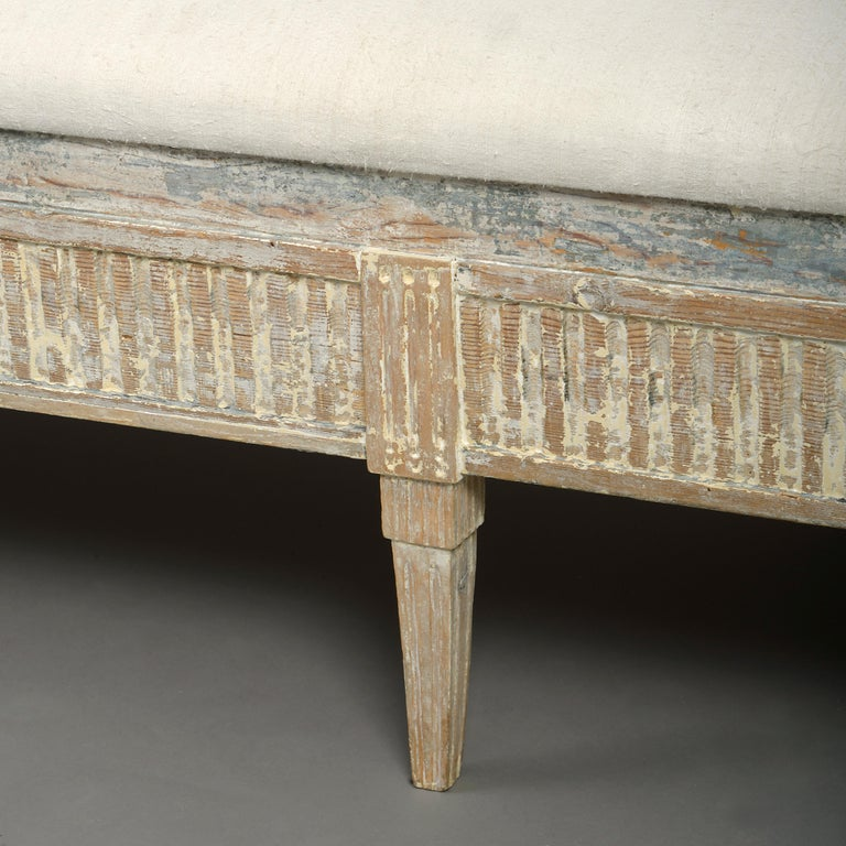 18th Century and Earlier 18th Century Gustavian Period Painted Sofa For Sale