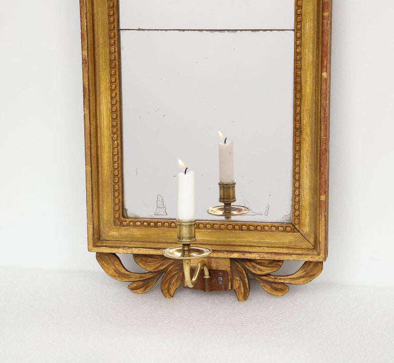18th Century Gustavian Single Arm Candle Sconce Mirror Center Cameo, Swedish For Sale 5