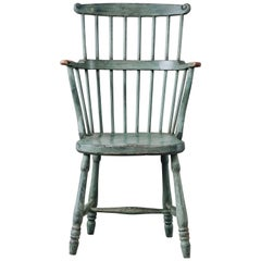 18th Century Gustavian Windsor Style Comb Back Chair
