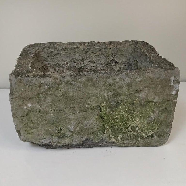 18th Century Hand Carved Stone Jardinière For Sale 3