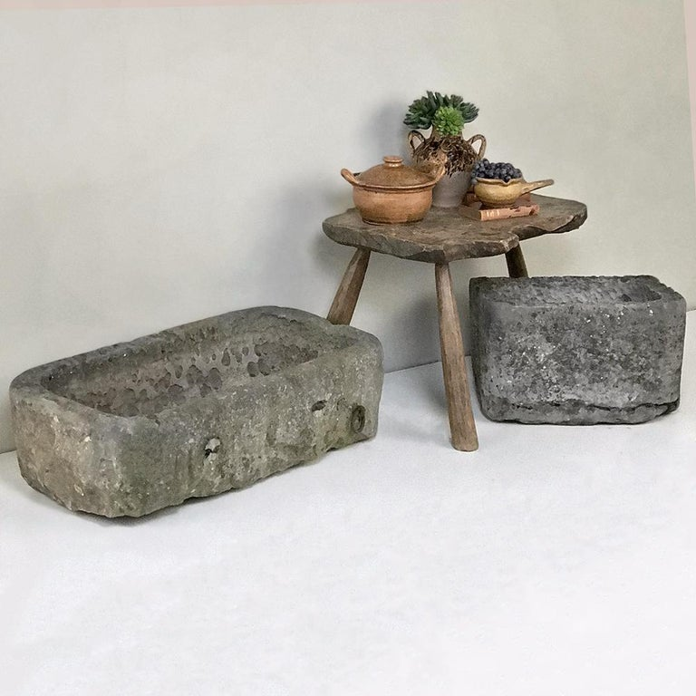 18th Century Hand Carved Stone Jardinière For Sale 6