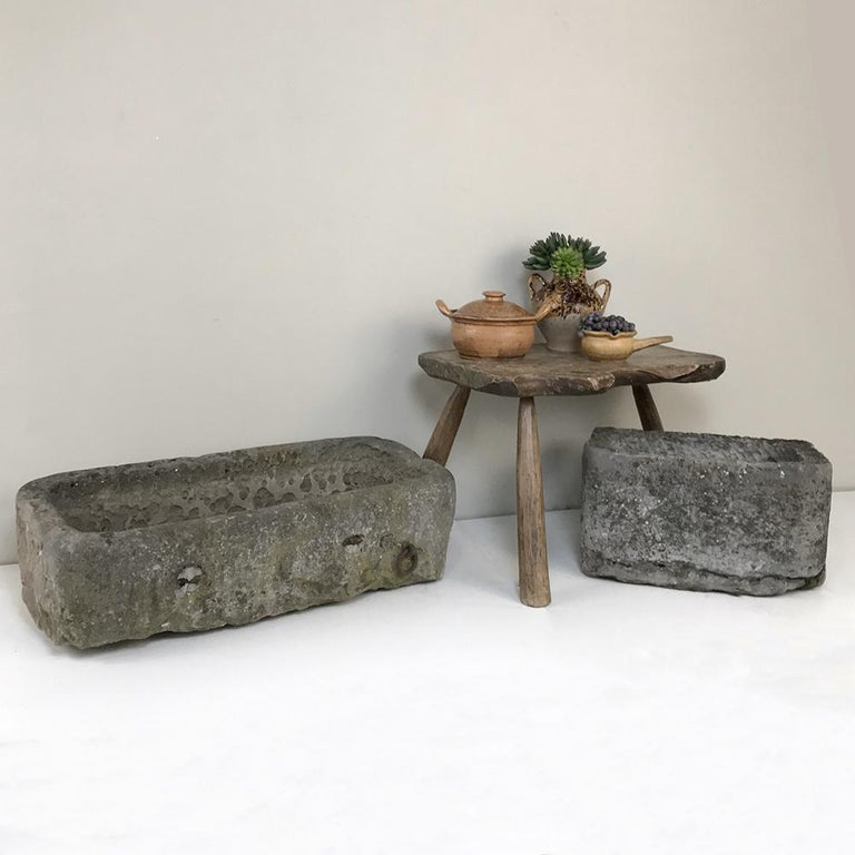 18th century hand carved stone Jardinière was sculpted from a solid block of limestone to provide the ideal addition for your garden! Originally designed for herbs, it's also a great choice for special flower species. Being quite heavy, one will
