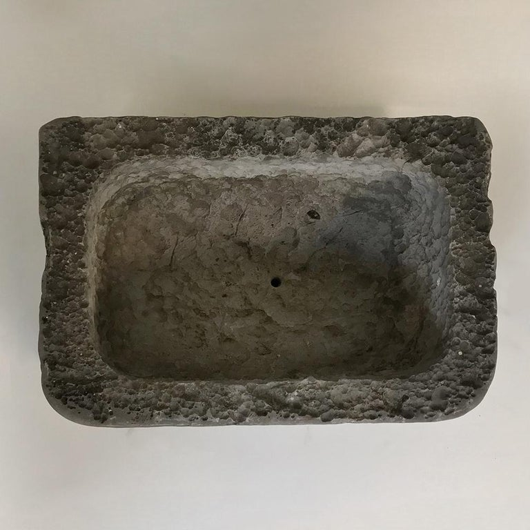 French 18th Century Hand Carved Stone Jardinière For Sale