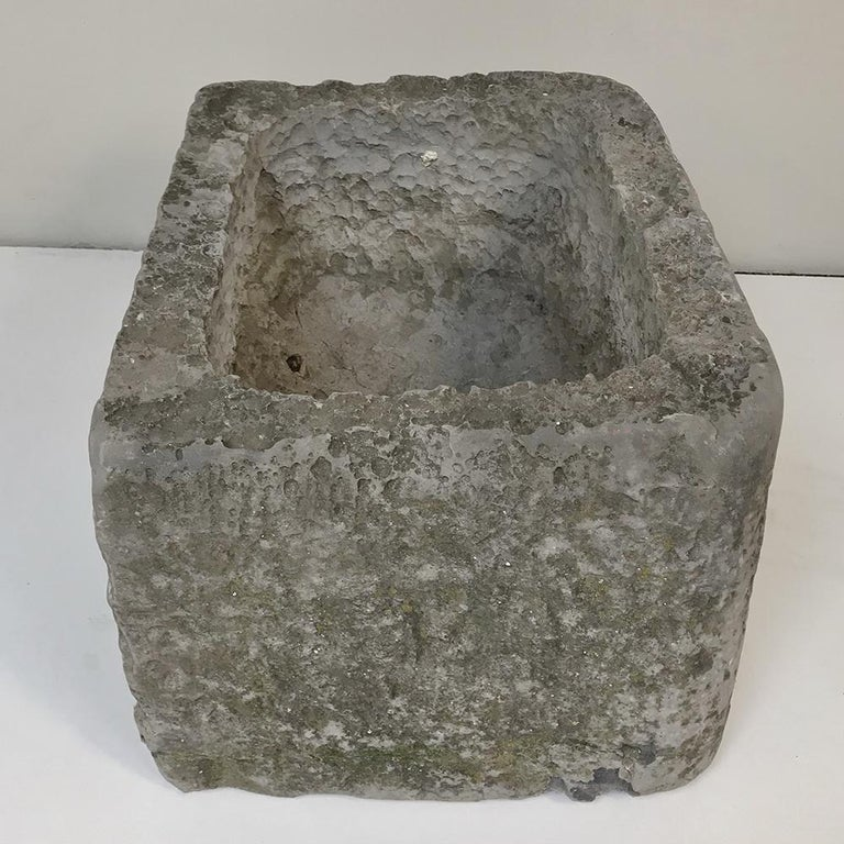 18th Century Hand Carved Stone Jardinière For Sale 1