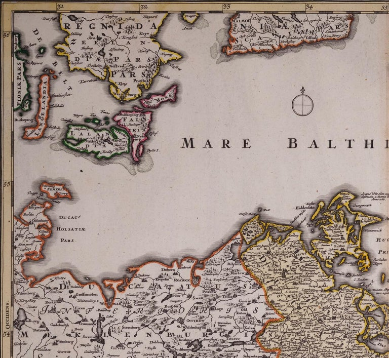 An 18th century hand-colored map entitled