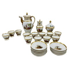 18th Century Hand Painted Porcelain Tea Set