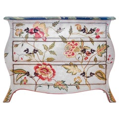 18th Century Hand-Painted Venetian Style Asolo Chest in Jacobean Inspired Decors