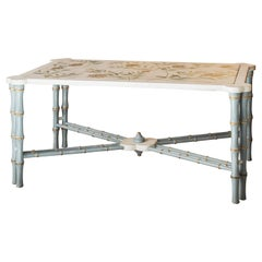 18th Century Hand-Painted Venetian Style Bamboo Marco Polo Coffee Table