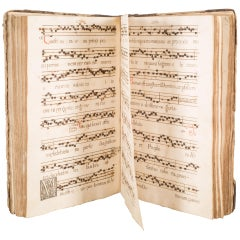 18th Century Hand Written Latin Music Book, circa 1787