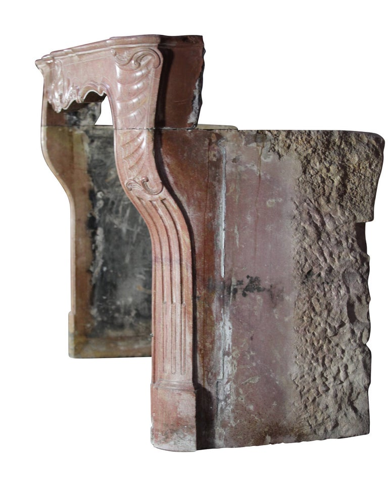 18th Century Impressive French Stone Antique Fireplace Surround For Sale 5