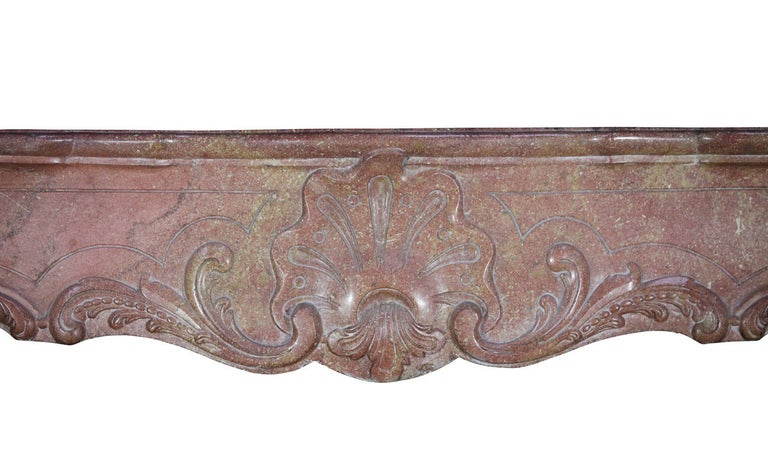 Regency 18th Century Impressive French Stone Antique Fireplace Surround For Sale