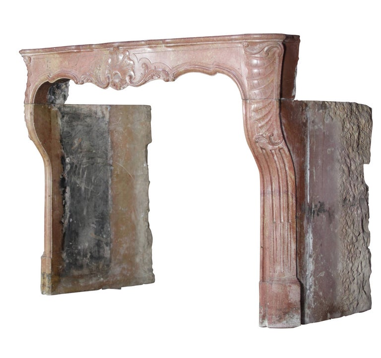 18th Century Impressive French Stone Antique Fireplace Surround For Sale 3