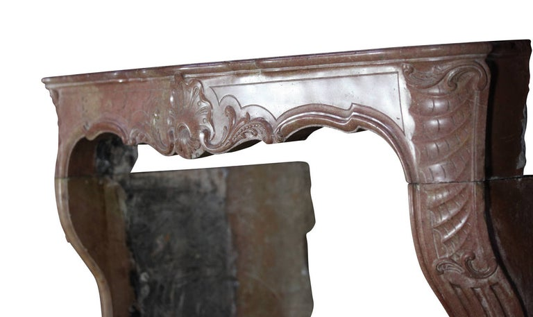 18th Century Impressive French Stone Antique Fireplace Surround For Sale 4