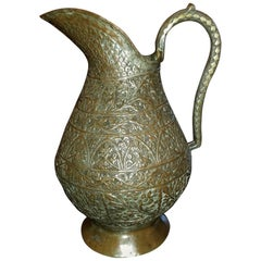 18th Century Indo-Persian Bronze Pitcher