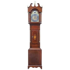 18th Century Inlaid Mahogany Long Case Clock by William Underwood of London