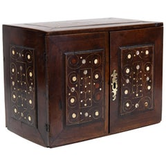 18th Century Inlaid Walnut Fitted Cabinet