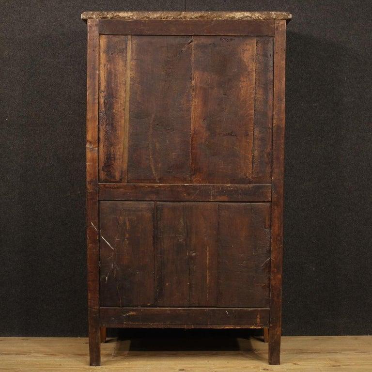 18th Century Inlaid Wood French Antique Louis XVI Secrétaire, 1780 For Sale 7