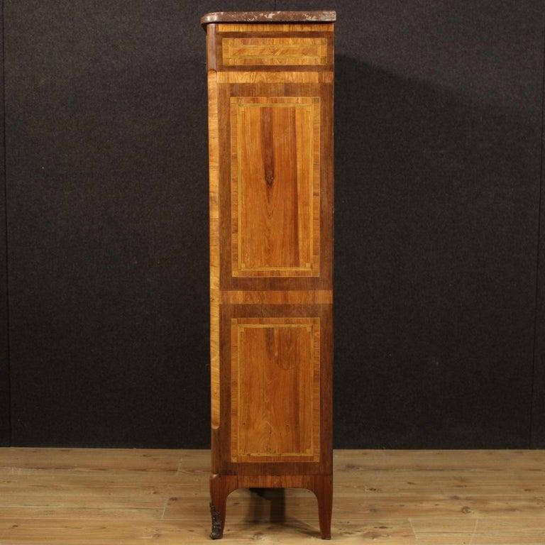 18th Century Inlaid Wood French Antique Louis XVI Secrétaire, 1780 For Sale 8
