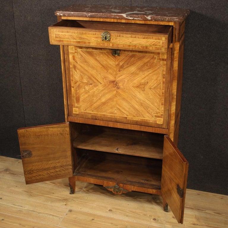 18th Century Inlaid Wood French Antique Louis XVI Secrétaire, 1780 For Sale 3
