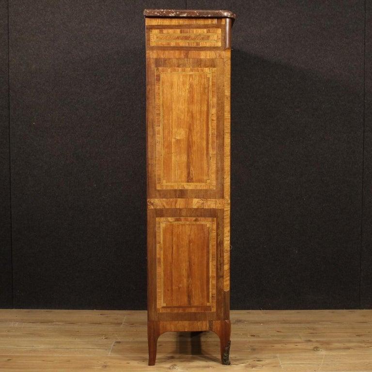 18th Century Inlaid Wood French Antique Louis XVI Secrétaire, 1780 For Sale 6