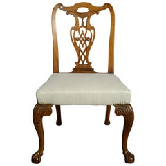18th Century Irish George III Period Mahogany Side Chair