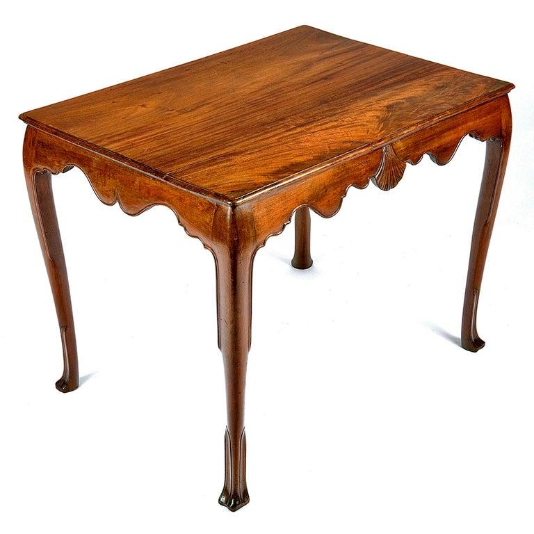 18th century Irish mahogany side table.