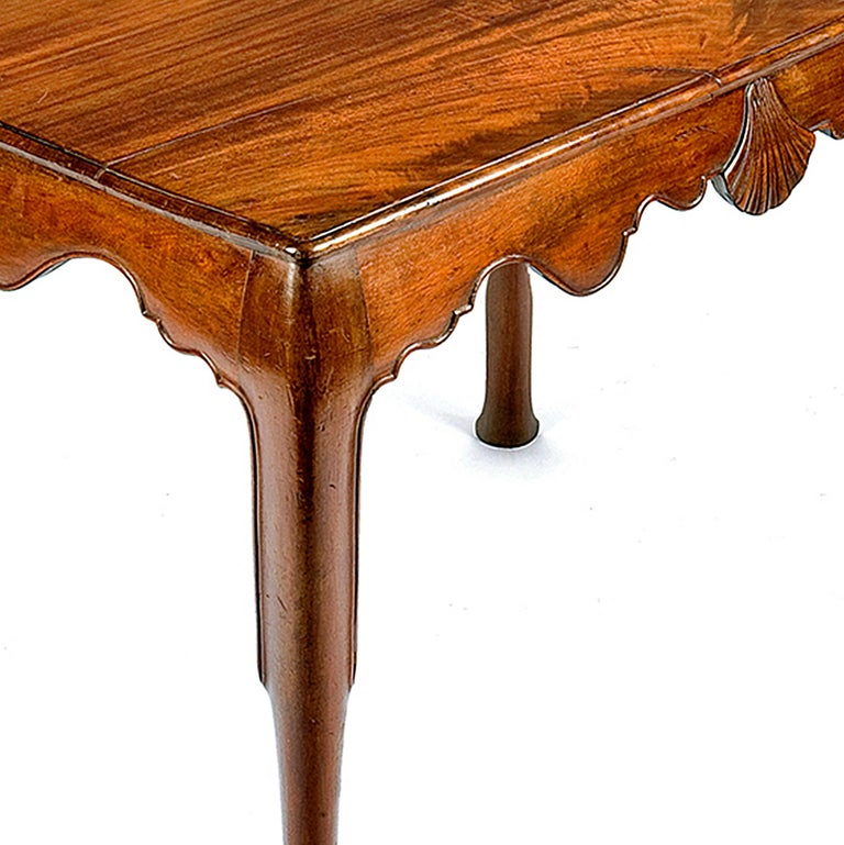 Hand-Carved 18th Century Irish Mahogany Side Table For Sale