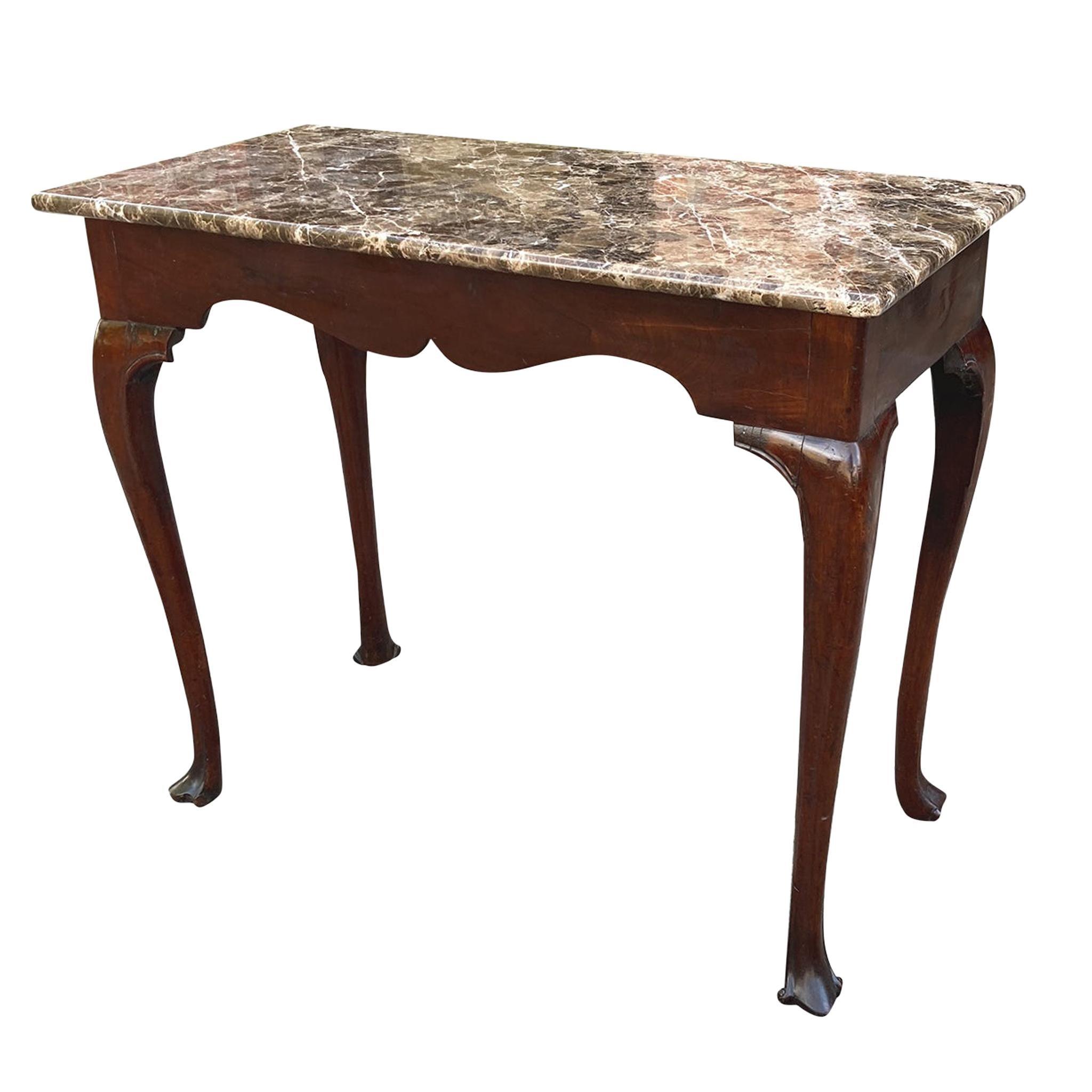 18th Century Irish Marble-Top Console Table