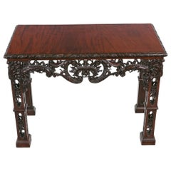 18th Century Irish Side Table after Thomas Chippendale
