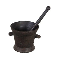 18th Century Iron Pestle and Mortar