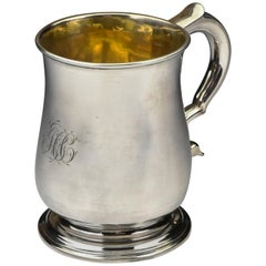 18th Century Isaac Cookson Newcastle English Silver Mug